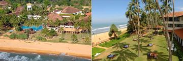 Tangerine Beach, Kalutara, Aerial View of Hotel, Beach and Pool