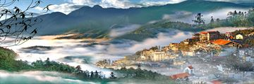 Morning mist over Sapa