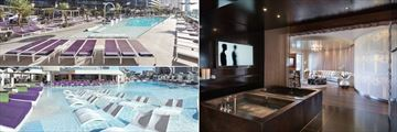 The Cosmopolitan of Las Vegas, The Chelsea Pool, Sahra Spa and Hammam and The Boulevard Pool