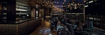 The Kimberly Boutique Suite Hotel, Upstairs Patio at Night