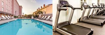 The Pool and Gym at The Mills House Wyndham Grand Hotel