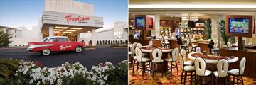 Exterior and Casino Tables and Games at The New Tropicana Las Vegas