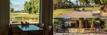Date Grove Diner, outdoor seating and Borax Museum at The Ranch at Death Valley