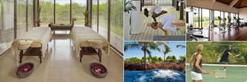 Spa Treatment Room, Yoga by the Jetty, Fitness Centre, Tennis and Spa Jacuzzi at The Residence Zanzibar