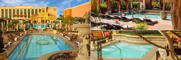 Pools and Hotel Exterior, Pool with Loungers and Spa Pool at The Venetian Resort and Casino