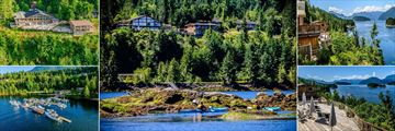 The West Coast Wilderness Lodge, Views of Lodge and Inlet