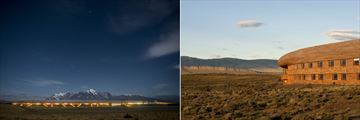 Night and day views of Tierra Patagonia