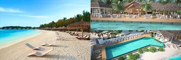 The beach and pool at Cinnamon Dhonveli