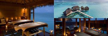 Relaxing over-water spa at Conrad Maldives