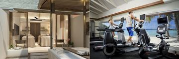 Spa and gym facilities at Centara Ras Fushi Resort