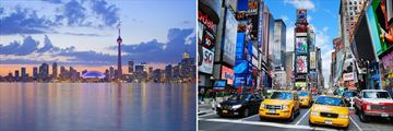 Scenery of Toronto & New York Cities