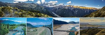 Arthur's Pass, TranzAlpine Train Scenery & Canterbury, South Island