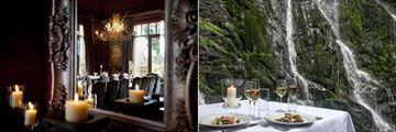 Treetops Lodge & Estate, Restaurant and Private Dining by the Waterfall