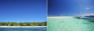 Tropical island beach & Snorkelling in Fiji