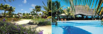 Trou Aux Biches Beachcomber Resort & Spa, Resort Gardens and Pool