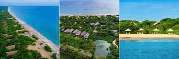 Uga Jungle Beach, Aerial View of Hotel, Cabins and Beach