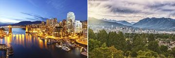 Vancouver city skyline, British Columbia