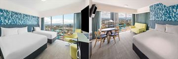 Vibe Hotel Gold Coast, Guest Room King and Single View Studio King & Sofa with View