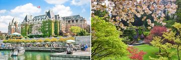 Victoria Parliament Buildings & Butchart Gardens, Vancouver Island