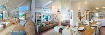 Living Room and Kitchen at Villa Saline Reef