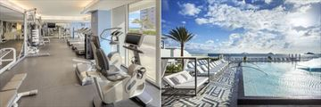 Fitness Centre and Infinity Pool at W Fort Lauderdale