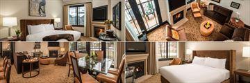 Waldorf Astoria Park City, Four Bed Bi-Level Suite, Waldorf Suite, One Bed Suite and Suite Living Area