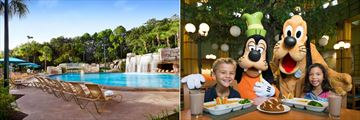 Grotto Pool and character dining at Garden Grove, at Walt Disney World Dolphin Resort