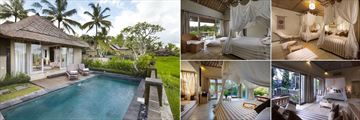 Wapa Di Ume Resort & Spa, Ubud, (clockwise from left): Terrace Villa with Pool, Lanai Room, Lanai Room, Di Ume Suite and Villa with Pool
