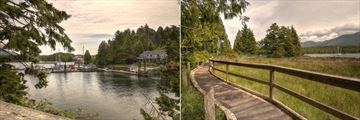Water's Edge Shoreside Suites, Ucluelet Harbour and Boardwalk Path to Beach