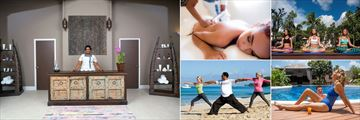 Spa Lobby, Massage Treatments, Yoga Pavilion, Adult Only Spa Pool and Beach Yoga at Waves Hotel & Spa by Elegant Hotels