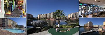 Westgate Town Center Resort & Spa, Games Room, Mini Golf, Fitness Center, Boat Rentals and Swan Rides and Pool