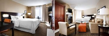 Westin Resort & Spa Tremblant, Traditional Room Queen Bed and Deluxe Room King Bed