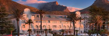 Winchester Mansions, Hotel with Table Mountain in Background