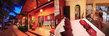 Zazen Boutique Resort, Beachfront Deluxe Bungalow and Bedroom