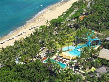 Aerial view of Bali Mandira