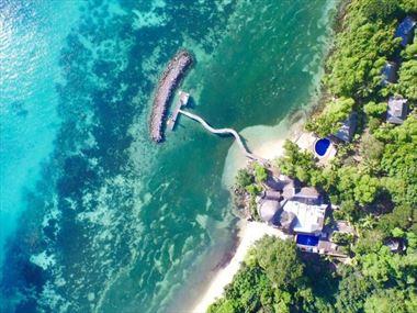 Aerial view of Cerf Island Resort