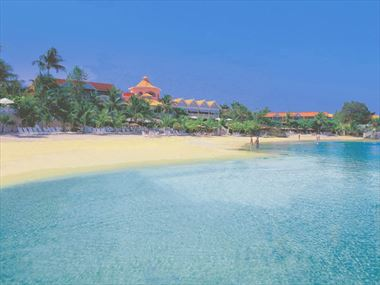 View of Coco Reef Resort from the beach