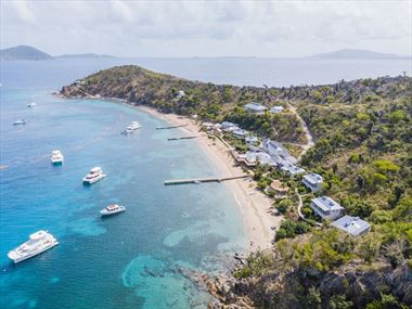 Aerial view of Cooper Island