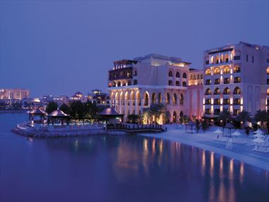 Exterior view of Shangri-La Qaryat al Beri at night