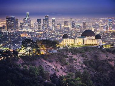 Griffith Observatory and Downtown LA skyline