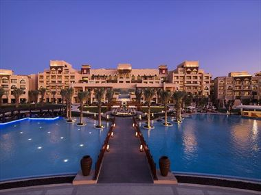 Saadiyat Rotana Hotel Entrance at Night
