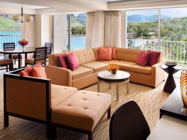King Suite Living Area, Kauai Marriott