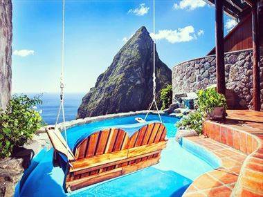 Ladera's incredible views of the Pitons