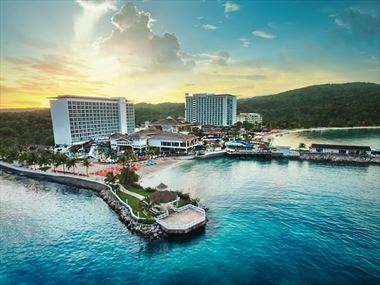 Moon Palace Jamaica Sunset Aerial View