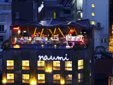 An aerial view of Naumi Hotel, Singapore