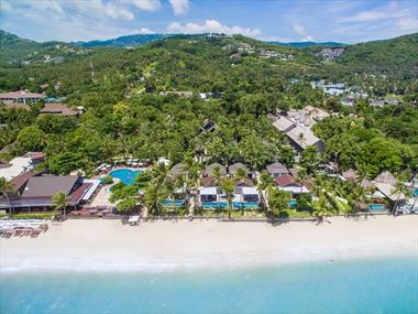 Peace Resort Samui aerial view
