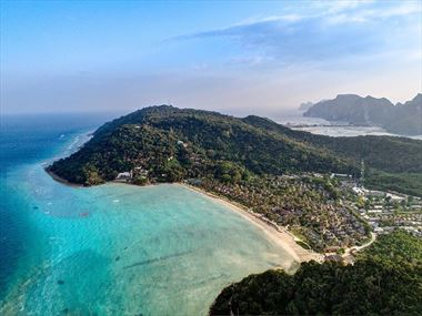 Phi Phi Island Village Aerial View