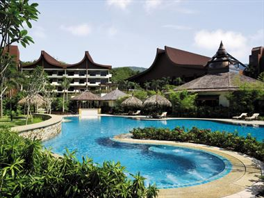 Rasa wing swimming pool at Shangri Las Rasa Sayang Resort & Spa