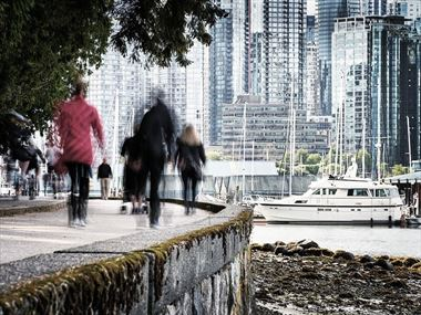 Exploring Vancouver on foot