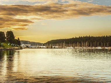 Sunset over Nanaimo Harbour, Vancouver Island